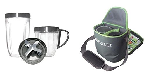 Magic Bullet Nutribullet 5-Piece Deluxe Upgrade Kit With Nutribullet Insulated Travel Bag