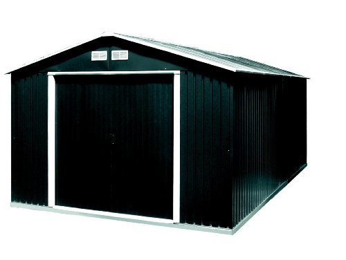 tepro gartenhaus metallger tehaus colossus 10x12 anthrazit. Black Bedroom Furniture Sets. Home Design Ideas