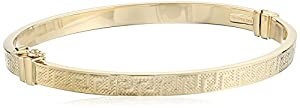 14k Yellow Gold Italian Greek Key Bangle Bracelet