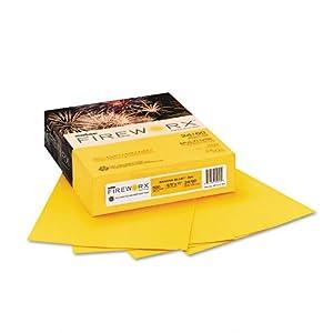 Boise Fireworx Color Copy/Laser Paper, 24 lb, Letter Size (8.5 x 11), Banana Blast, 500 Sheets (MP2241-BA)