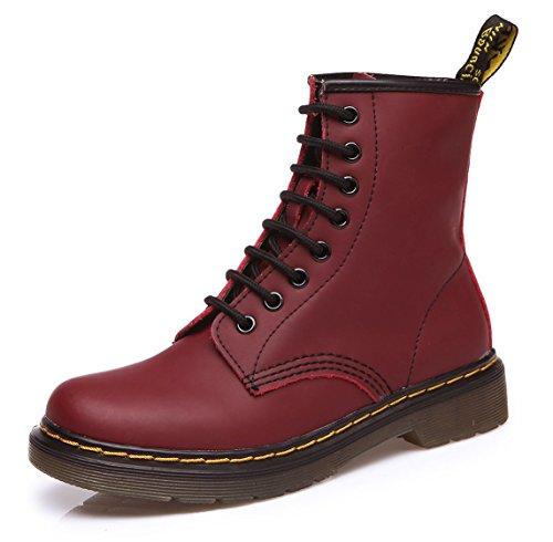 uBeauty - Stivali Donna - Scarpe da Moda Stivaletti - Stivali Classici Donna - Martin Stivali Rosso 38 EU