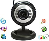 12 Megapixel Webcam Camera with Built-in Microphone and Built-in Adjustable LED Lights / NightVision, Plug and Play by XGadget