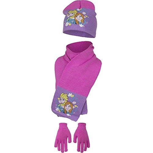 FROZEN set cappello sciarpa guanti Bambina taglia 52 da 2-5anni