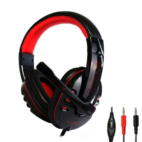 Amtonseeshop New Hot Selling 3.5Mm Pro Stereo Headset Pc Notebook Gaming Headset With Microphone Black