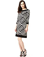 A-Line Geometric Print Tunic Dress