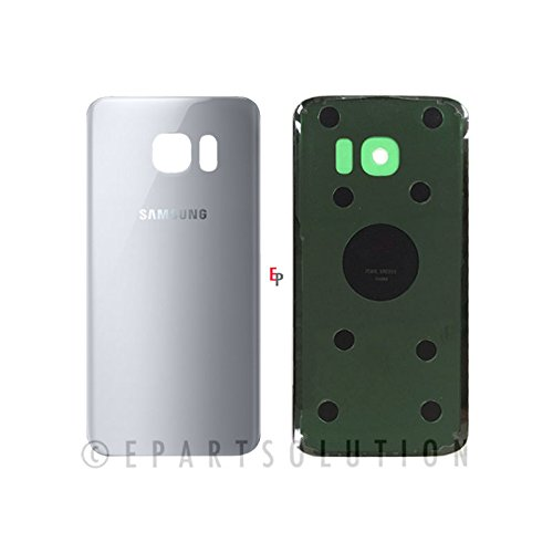 ePartSolution_Samsung Galaxy S7 Edge G935A G935V G935P G935T G935F Housing Battery Door Back Cover Glass Only Replacement Part USA Seller (Silver)