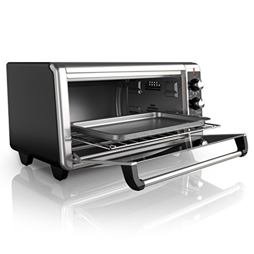 Black decker to3250xsb 8 slice extra wide toaster oven stainless steel black ebay for Toaster oven stainless steel interior