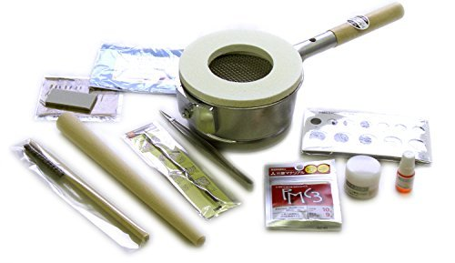 easy-fired-at-a-gas-stove-with-two-pmc3-original-silver-bread-starter-kit-sterling-silver-clay-9g-in