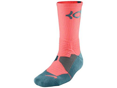 Nike Men`s KD Hyper Elite Cushioned Basketball Socks Medium (6-8) Pink Blue