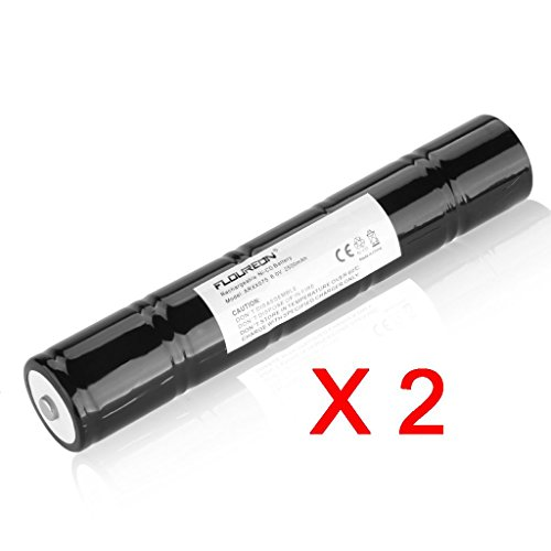 2 New Floureon 6V 2500Mah Ni-Cd Rechargeable Replacement Battery For Streamlight Sl20 Streamlight Sl20S Streamlight Sl20X, Maglite Arxx075 Arxx235, Ge/Ericsson 40070149 41B038Af00101 (Black)