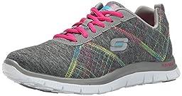 Skechers Sport Womens Its Electric Fashion Sneaker, Grey Multi,10 M US