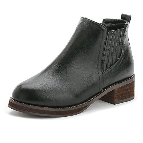Autunno/inverno stivali stivali flat con retrò signora Martin Stivali alla caviglia stivali scarpe tacco donna scarpe , black , 35