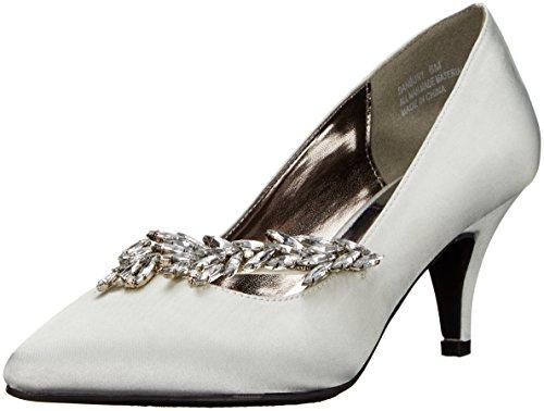 Annie Shoes Women's Danbury Dress Pump, Silver, 8 M US