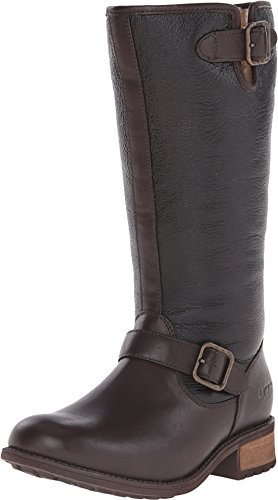 ugg-womens-chancery-brown-twinface-leather-boot-9-b-m