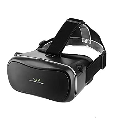 VR Glasses Headset MECO 3D VR Glasses VR Goggles Virtual Reality Video Black for Movies Films Games in iPhone Samsung LG HTC