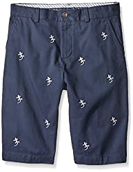 Brooks Brothers Big Boys' Gecko Chino Short, Navy/Gecko Embroidered, 16