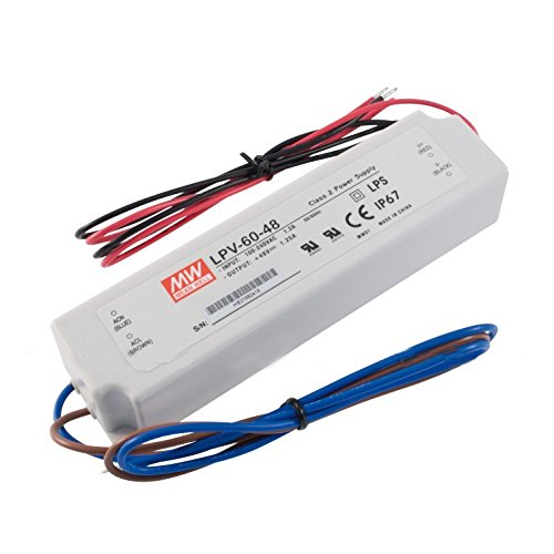 Mean Well Lpv-60-48 60W 48V 1.25A Power Supply Led Driver Water & Dust-Proof
