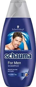 Schwarzkopf Schauma Shampoo For Men , 4er Pack (4 x 400 ml)