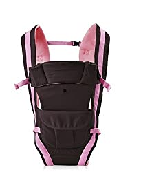 1 Pc Adjustable Hands-Free 4-in-1 Baby Carrier with Comfortable Head Support & Buckle Straps - Color: Pink