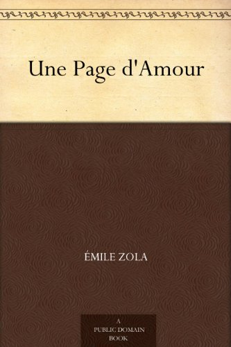 EMILE ZOLA - Une Page d'Amour (French Edition)