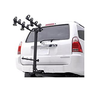 Buy Hollywood Racks HR420 Road Runner 4-Bike Hitch Mount Rack for Vehicles with Rear Mounted Spare Tire... by Hollywood Racks