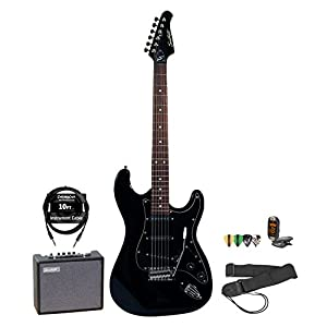 Sawtooth Electric Guitar w/ Pickguard - Includes: Accessories & 10-Watt Amp by Sawtooth