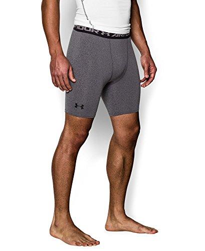 Under Armour Men's HeatGear Armour Compression Shorts - Mid, Carbon Heather (090), Medium