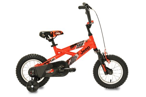 Jeep Boy's Bike (12-Inch, Orange/Black)
