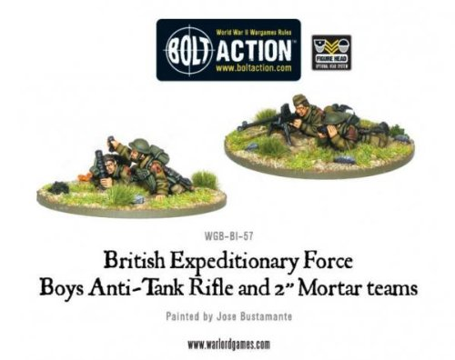 Early War British Anti-tank Rifle Team Miniatures