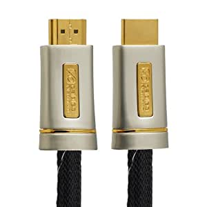 6M (6 Meter) XO PLATINUM HDMI TO HDMI Cable *New 2.0/1.4 Version High-Speed with ETHERNET and 3D 21GPS* FULL HD 2160p/1080p for XBOX 360, PS3, PS4, SKYHD, VIRGIN BOX, DVD, BLU-RAY, UHD, LCD, LED, PLASMA, Dolby TrueHD, Samsung LG SONY PANASONIC HDTV
