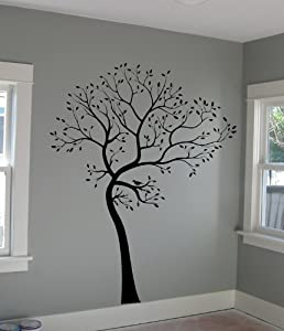 Big Tree Wall Decal Deco Art Sticker Mural in BLACK COLOR
