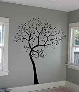 Large Big Tree Wall Decal Deco Art Sticker Mural in BLACK COLOR