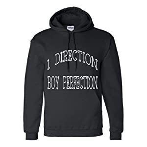One Direction Hoodie Sweatshirt Black White Lettering Girls S M L