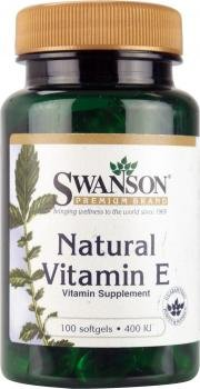 Swanson Natural Vitamin E (400iu, 100 Softgels)