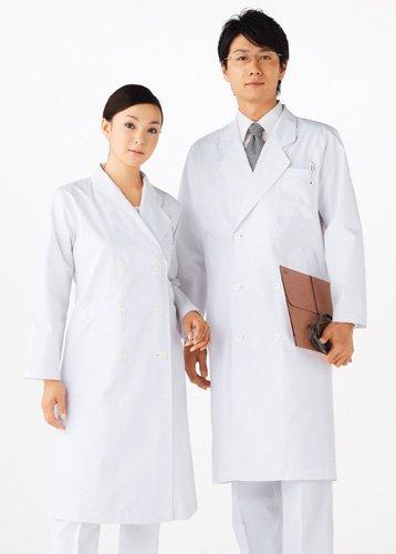白衣 ドクターコート レディース ダブル 白 M