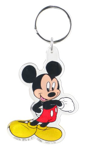 Disney Mickey Standing Lucite Key Ring - 1