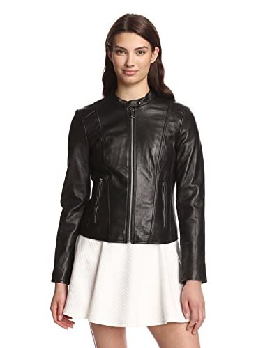 Marc New York by Andrew Marc Women's Geri Leather Moto Jacket