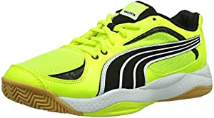 Puma Ballesta, Chaussures de sports en salle homme - Jaune - Gelb (fluro yellow-black-white 07), 40.5 EU (7 Herren UK) EU
