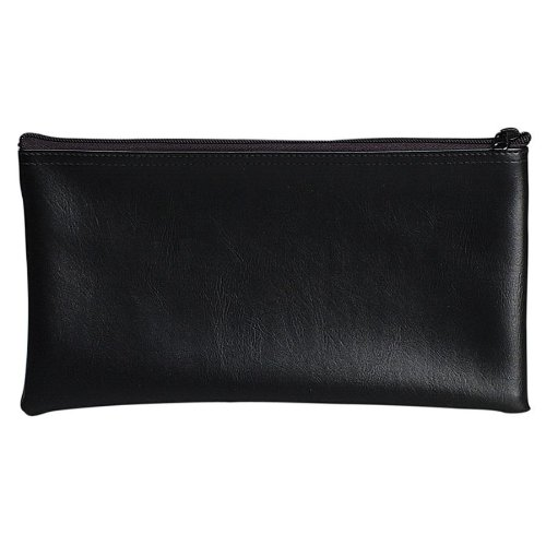 PM Company Securit Bank Deposit / Utility Zipper Coin Bag, 11 X 6 Inches, Black (04621)