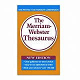 Merriam Webster Paperback Thesaurus