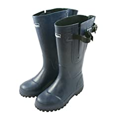 Extra Wide Calf Navy Rain Boots: Fit up to 20 inch calf. Durable and Hard Wearing