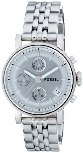Fossil Women's ES2198 Stainless Steel Bracelet Silver Analog Dial Multifunction Watch