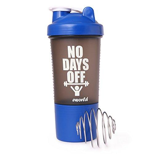 Eworld Armour Shaker Bottle Blue