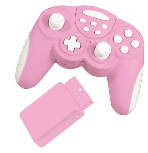 Powerplay Pink Wireless Powershock Controller (PS2)