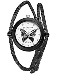 Grandson Black Casual Analog Watch For Girls And Women