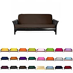 Magshion@Futon Cover Slipcover (Coffee, Full (54x75 in.))
