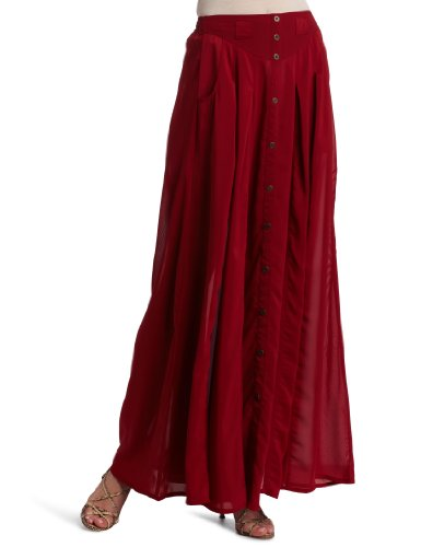 Minkpink Women's Great Expectations Maxi Skirt, Dark Red, Medium