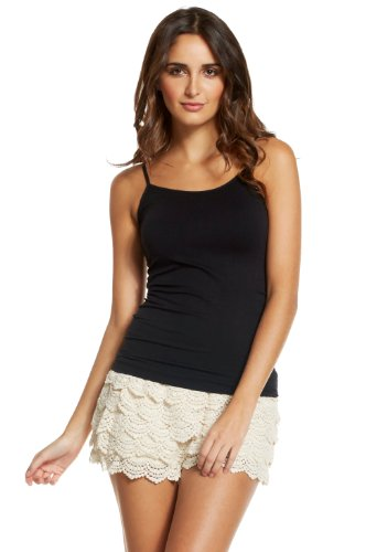 Elan Women's Cotton Crochet Lace Shorts