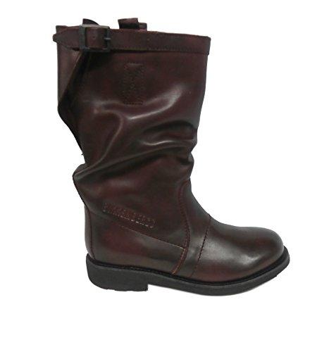 Bikkembergs stivale donna pelle vintage 176 mid boot bordeaux BKE107385 nr.38