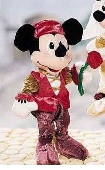 "Disney Romeo and Juliet Mickey Mouse Romeo Lover 9"" Plush Bean Bag Doll - 1"